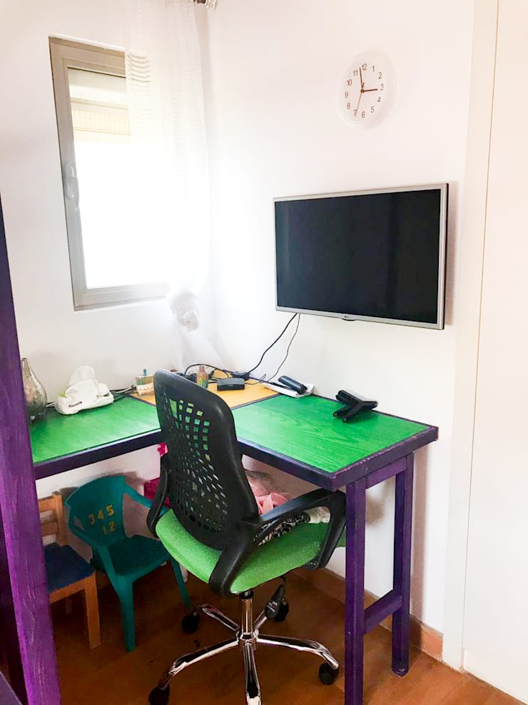 Rainbow Toddler house bedroom:  غرفة الأطفال تنفيذ Solo DesiGn