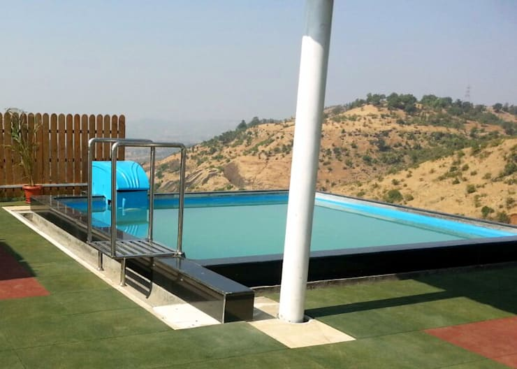 Roof top swimming pools:  Flat roof by arrdevpools