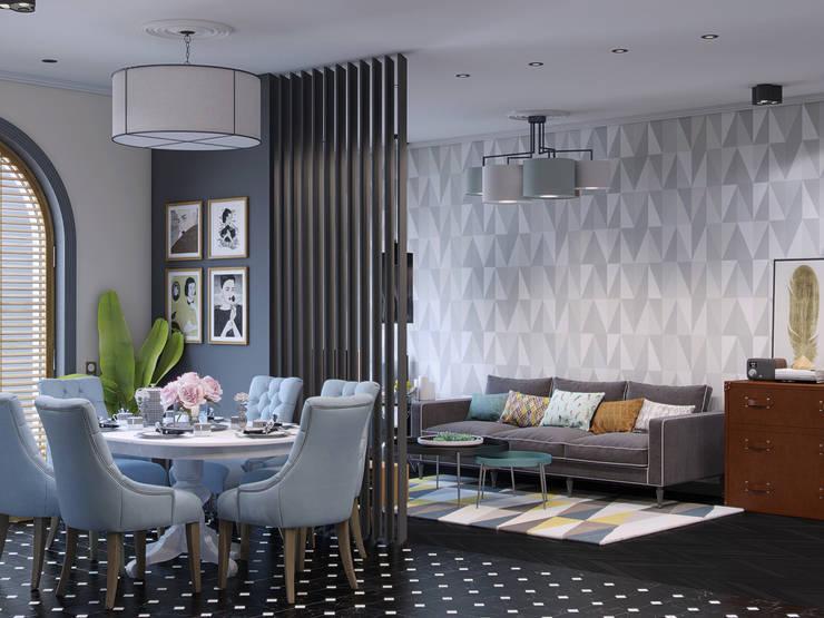 «New Retro»: Столовые комнаты в . Автор – Wide Design Group