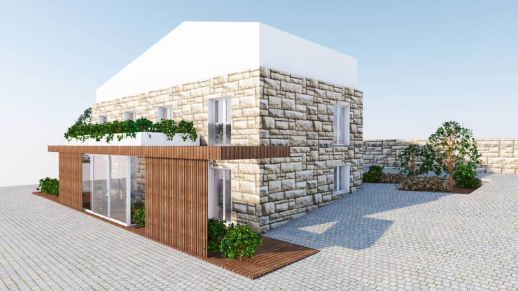 vila franca: Casas de campo  por Qiarq . arquitectura+design