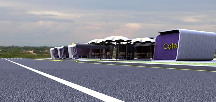 Mini Bus- Station Proposal for City of Gaborone:   by Kori Interiors