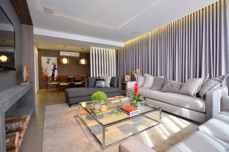 Apartamento Modelo Elegante: Salas de estar  por BG arquitetura