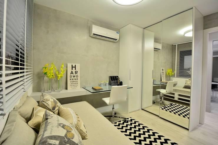 Apartamento Modelo para Público Jovem Descolado: Quartos  por BG arquitetura