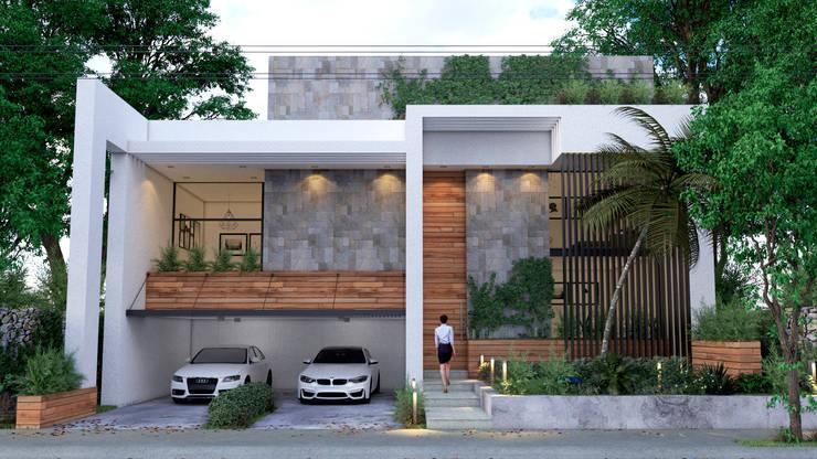 Fachadas modernas dise os y caracter sticas for Diseno casas unifamiliares