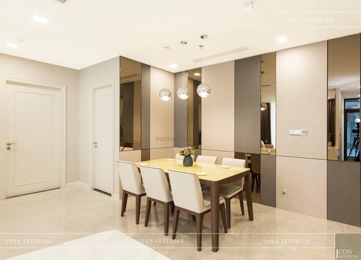 Thi công nội thất phong cách hiện đại trong căn hộ Vinhomes Golden River:  Phòng ăn by ICON INTERIOR