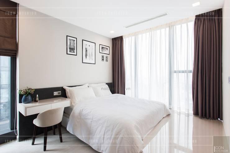 Thi công nội thất phong cách hiện đại trong căn hộ Vinhomes Golden River:  Phòng ngủ by ICON INTERIOR