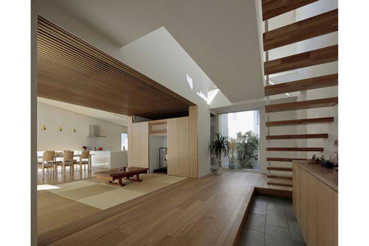 分節と連続の家: 株式会社Fit建築設計事務所が手掛けた廊下 & 玄関です。