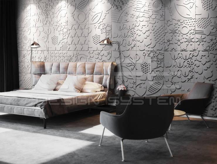Спальни в . Автор – Loft Design System Deutschland - Wandpaneele aus Bayern, Модерн Бетон