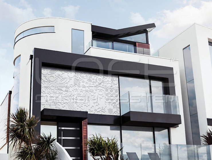 3D Wandplatten aus GRC Beton:  Villa von Loft Design System Deutschland - Wandpaneele aus Bayern