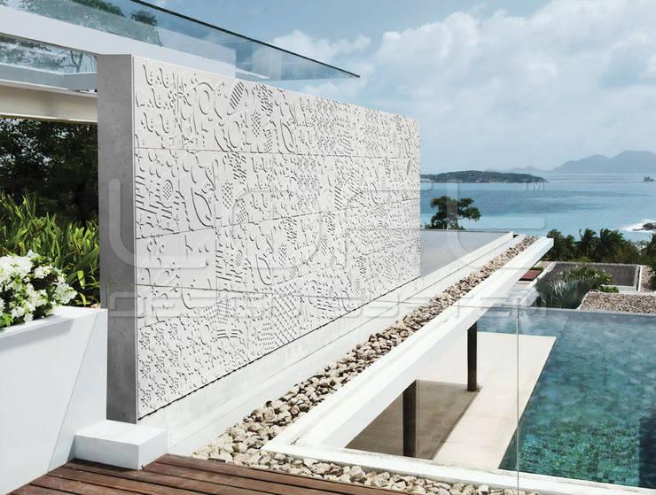 3D Wandplatten aus GRC Beton:  Villa von Loft Design System Deutschland