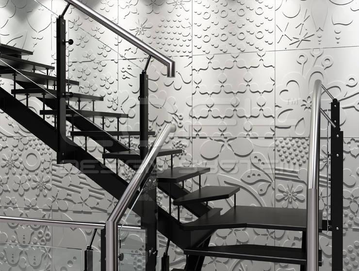 3D Platten aus GRC Beton:  Treppe von Loft Design System Deutschland - Wandpaneele aus Bayern