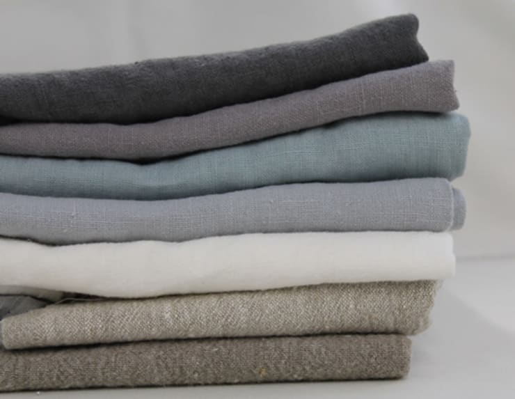 Prewashed Linen Fabric:  Bedroom by Ada & Ina Natural Curtain Fabrics, Made To Measure Curtains & Linen Bedding