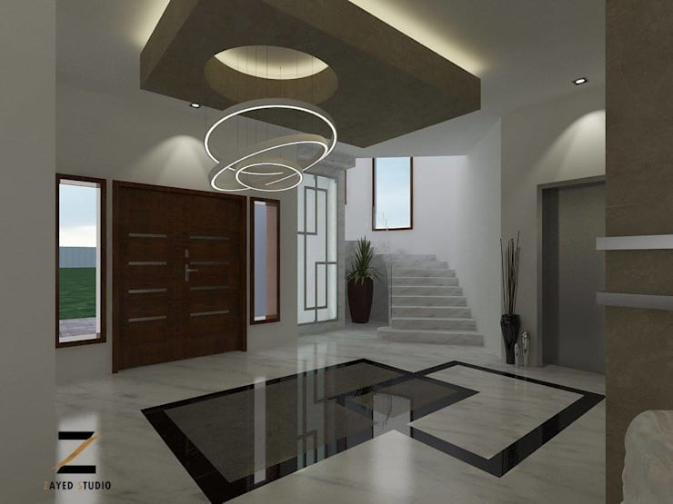 Corridor & hallway by ZAYED Studio