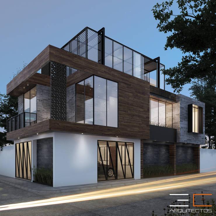 Residencia GA_01: Casas unifamiliares de estilo  por 3C Arquitectos S.A. de C.V.