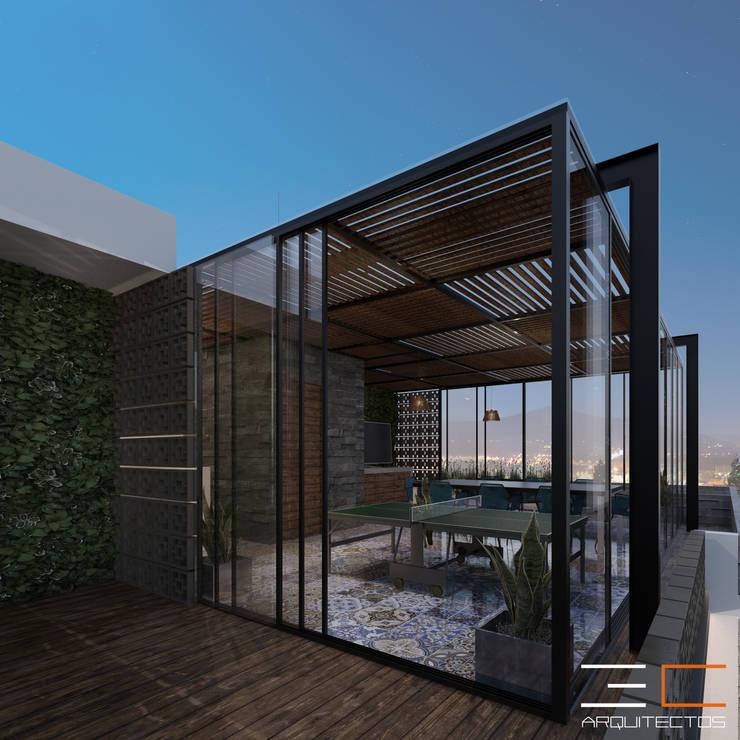 Residencia GA_03: Terrazas de estilo  por 3C Arquitectos S.A. de C.V.