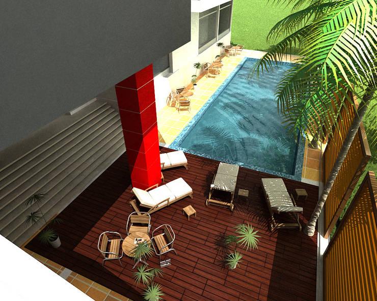 PISCINA 2:  de estilo  por IngeniARQ Arquitectura + Ingeniería