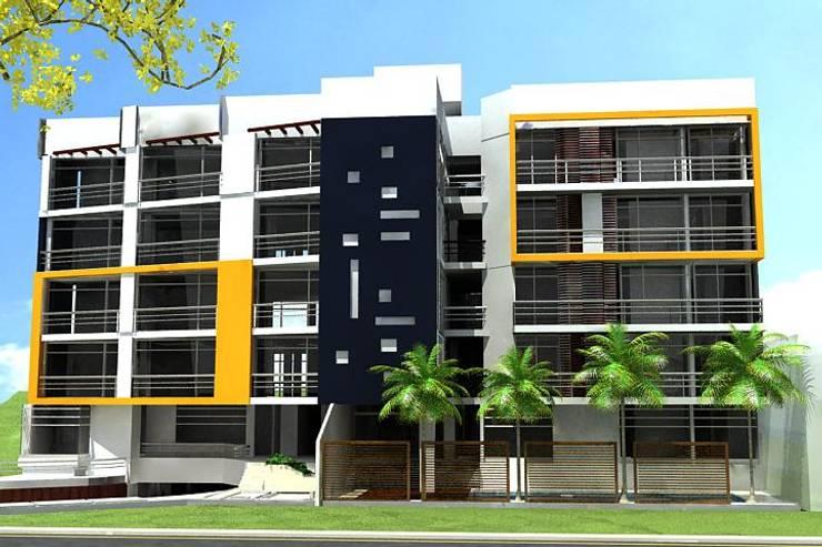 FACHADA 2:  de estilo  por IngeniARQ Arquitectura + Ingeniería