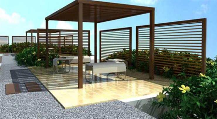TERRAZA:  de estilo  por IngeniARQ Arquitectura + Ingeniería