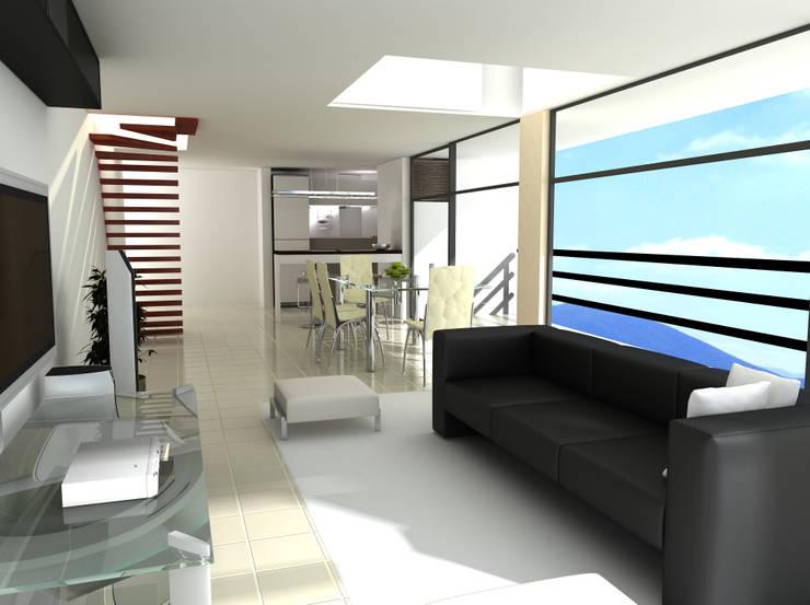 INTERIOR APARTAMENTOS:  de estilo  por IngeniARQ Arquitectura + Ingeniería