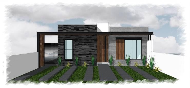 Residencia GT_01: Casas unifamiliares de estilo  por 3C Arquitectos S.A. de C.V.