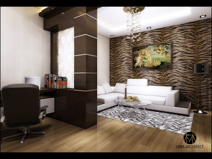 J Permai  Interior:  Ruang Keluarga by Lims Architect