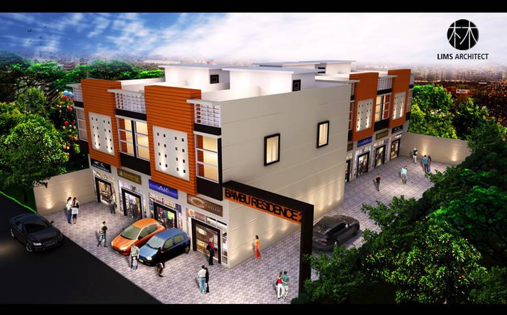 Bambu 2 Residence:  Kantor & toko by Lims Architect