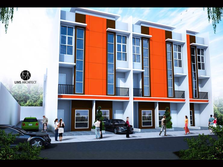 Town House jalan  Buku:  Kantor & toko by Lims Architect