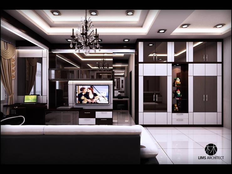 MMas Master Room & eksterior: Kamar Tidur oleh Lims Architect, Modern