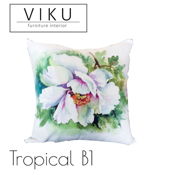 Tropical pillow B1:  Bedroom by viku