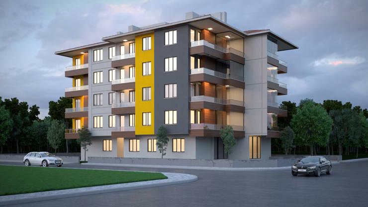Dündar Design - Mimari Görselleştirme – Apartman - 5 Kat:  tarz Evler