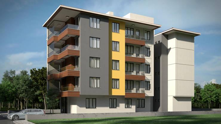 Dündar Design - Mimari Görselleştirme – Apartman – 5 Kat:  tarz Evler