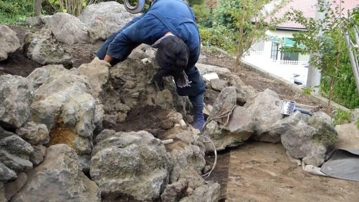 伊東市 石積み: 庭や煌久が手掛けたです。