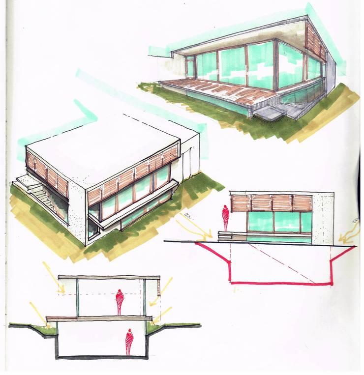 Constructores: Casas unifamiliares de estilo  por FERBO