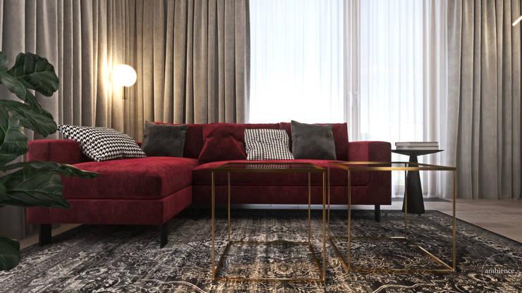 Odważne mieszkanie z czerwienią: styl , w kategorii Salon zaprojektowany przez Ambience. Interior Design