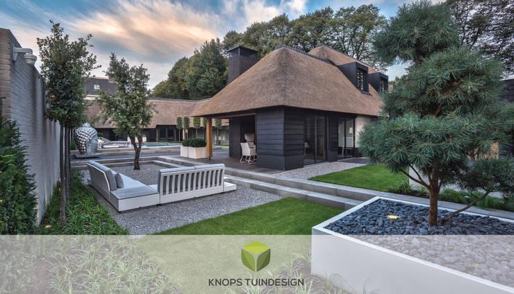Villatuin met luxe wellness: modern  door Knops Tuindesign, Modern