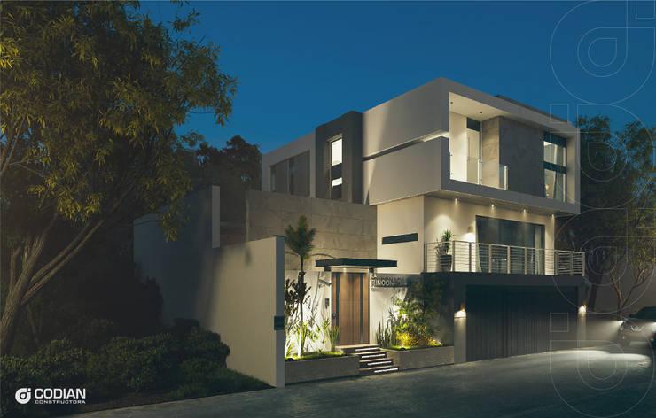 Proyecto Cumbres: Casas de estilo  por CODIAN CONSTRUCTORA