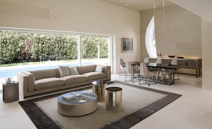 LONGHI家具高品质家具,现代品质休闲沙发:  客廳 by 北京恒邦信大国际贸易有限公司