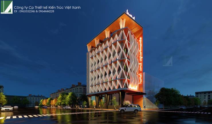 PHƯƠNG ÁN KHÁCH SẠN & CĂN HỘ CAO CẤP CHUYÊN GIA - 8 TẦNG _HỒ SEN _ HẢI PHÒNG . :   by công ty cổ phần Thiết kế Kiến trúc Việt Xanh