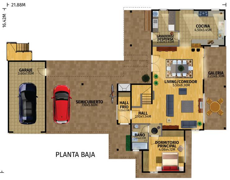 Casa Construida con Troncos de Madera – Patagonia Log Homes:  de estilo  por Patagonia Log Homes - Arquitectos - Neuquén,