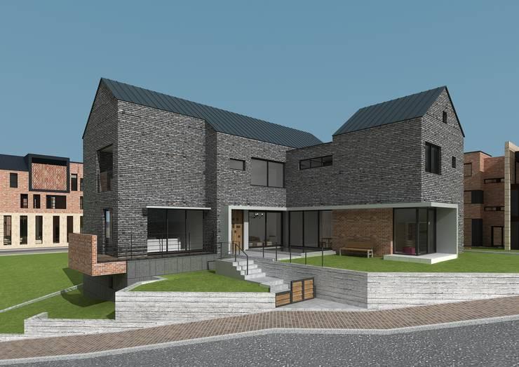 원주 혁신도시 단독주택: 건축사사무소  CSU의  전원 주택,모던