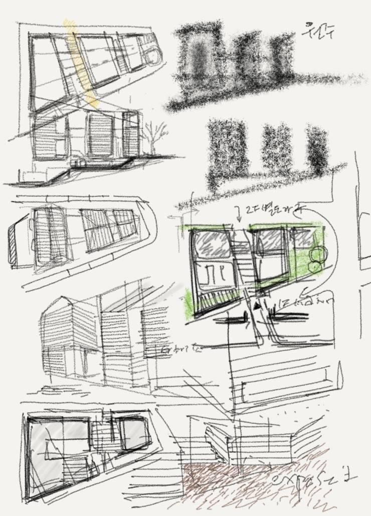 원주 혁신도시 단독주택: 건축사사무소  CSU의  주택,모던