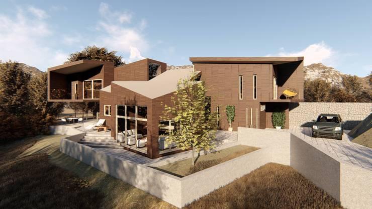 Vista sur de la vivienda:  de estilo  por Lagom Studio