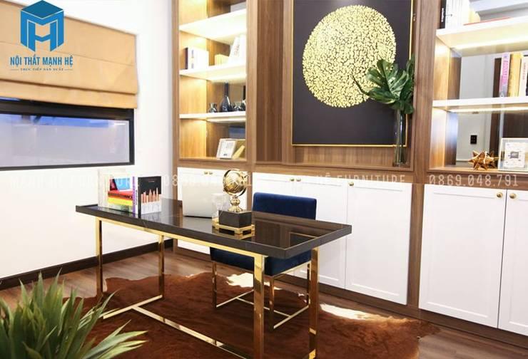 Không gian làm việc :  Phòng học/Văn phòng by Công ty TNHH Nội Thất Mạnh Hệ