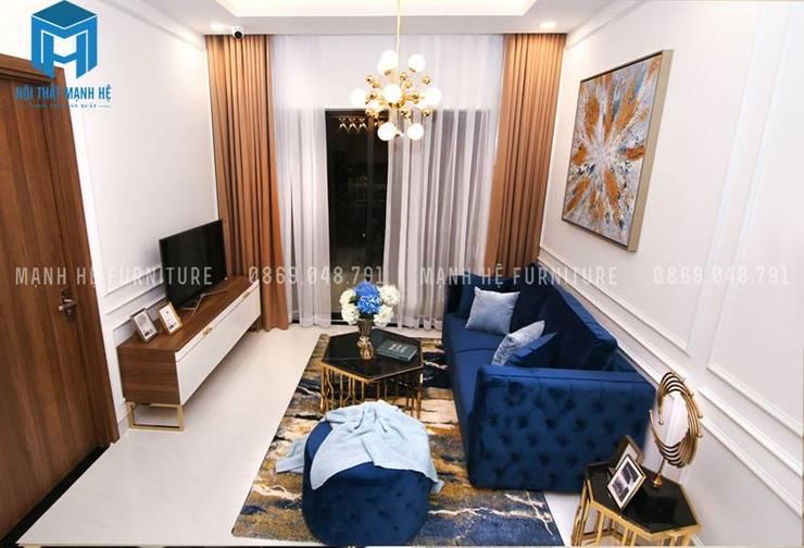 Không gian phòng khách:  Phòng khách by Công ty TNHH Nội Thất Mạnh Hệ