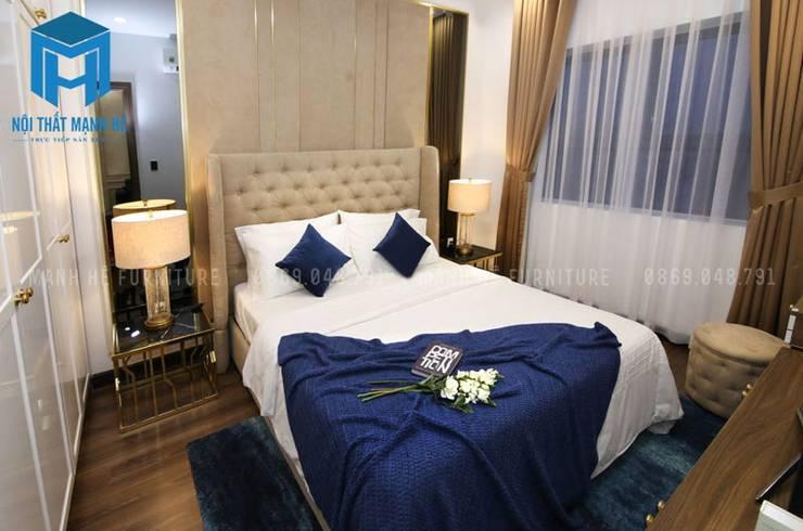 Phòng ngủ master:  Phòng ngủ by Công ty TNHH Nội Thất Mạnh Hệ