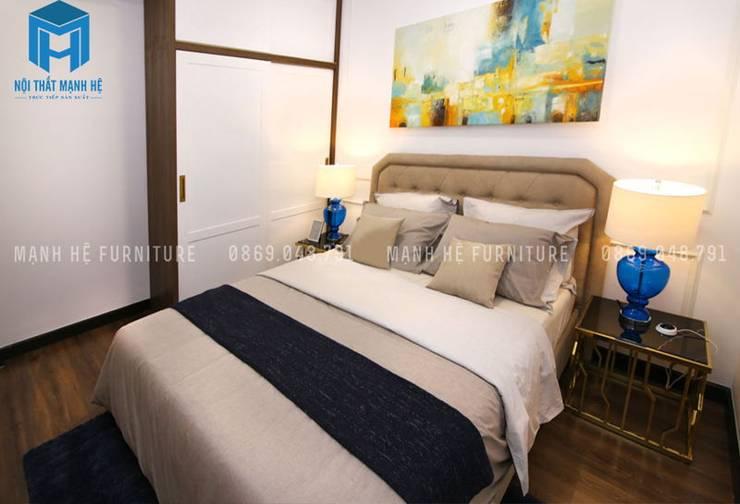 Phòng ngủ 2:  Phòng ngủ by Công ty TNHH Nội Thất Mạnh Hệ