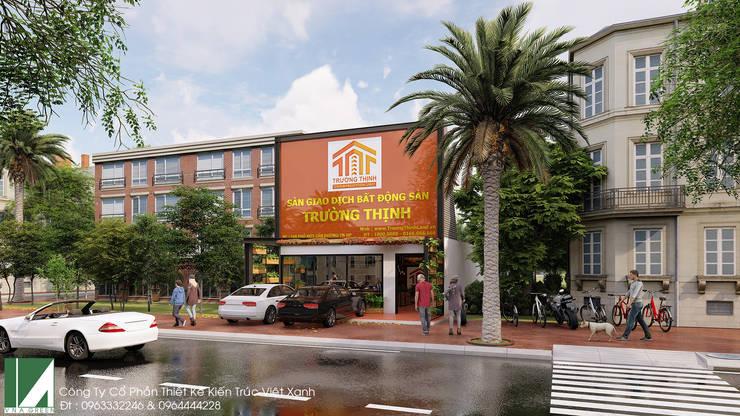 VĂN PHÒNG MẶT BẤT ĐỘNG SẢN MẶT TIỀN 7M - 2 TẦNG:   by công ty cổ phần Thiết kế Kiến trúc Việt Xanh