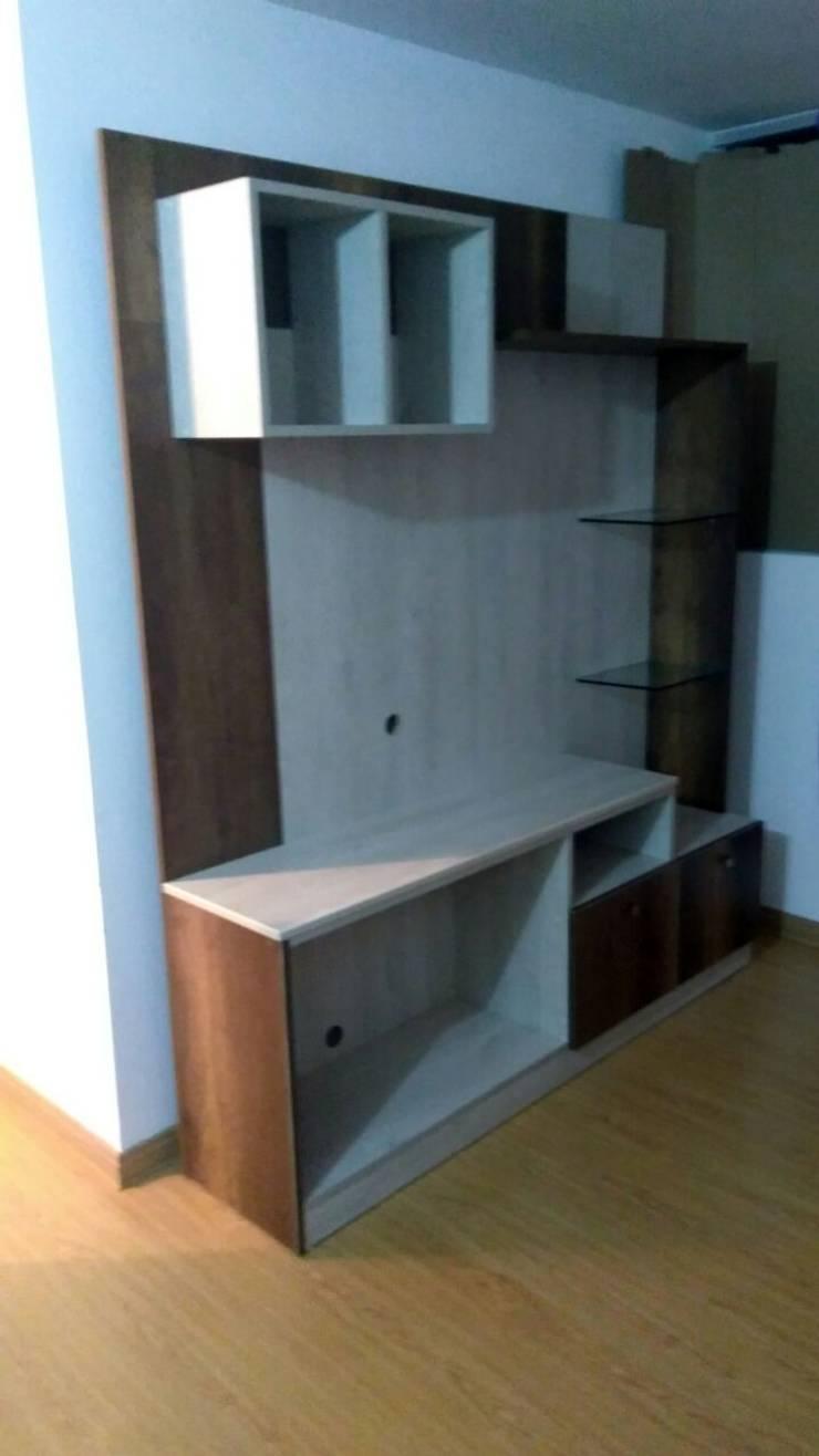 AMOBLAMIENTO DEPARTAMENTO: Dormitorios de estilo  por MARSHEL DUART SRL