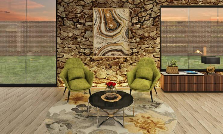 Casa de Campo : Salas / recibidores de estilo  por Luis Escobar Interiorismo