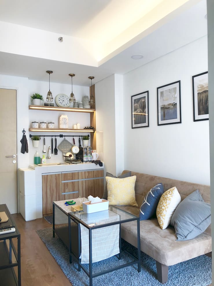 Living Room:  Kitchen by March Atelier